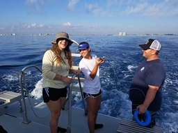 Upper School Marine Science Students Join NSU Professor for Shark Tagging Adventure