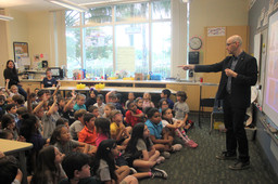 New York Times bestselling author visits second grade