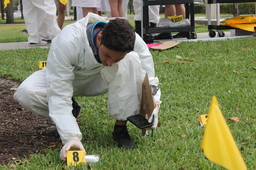 Upper School Forensic Science Class Stages Crime Scene Investigation