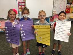 First Grade Students Transform into Surgeons to learn about contractions